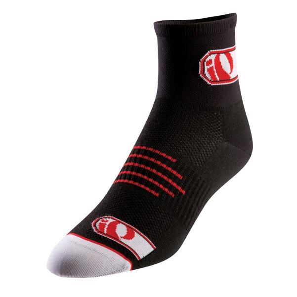 ponožky Pearl Izumi Elite black logo IP red