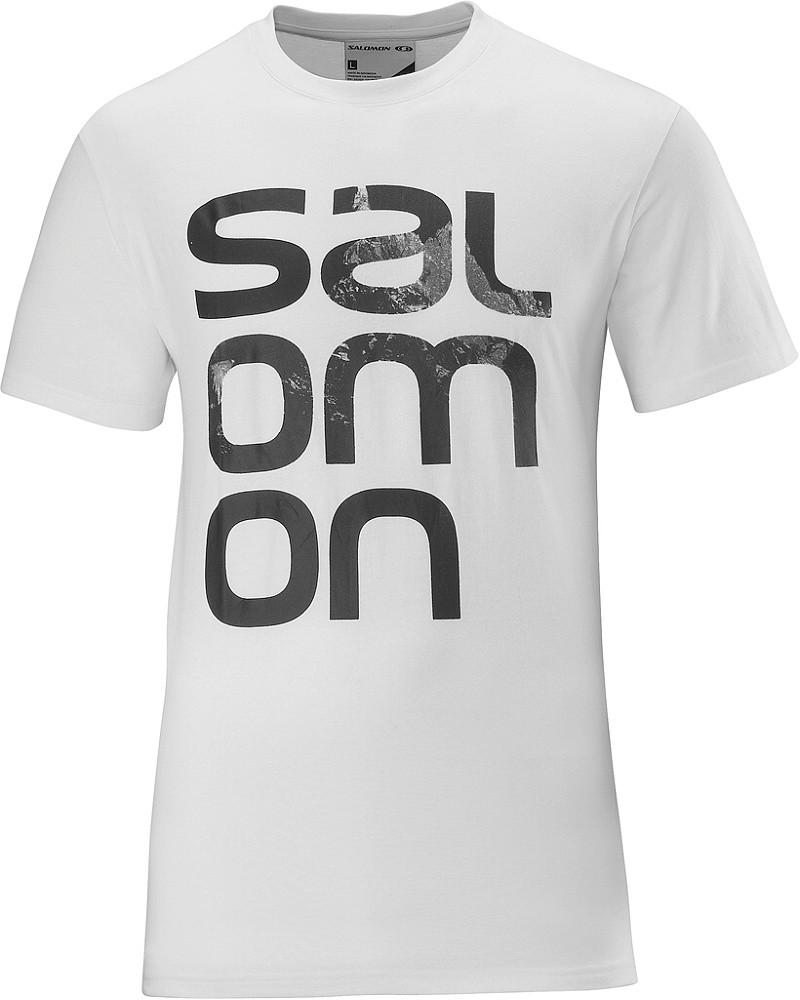 triko Salomon Polylogo M white