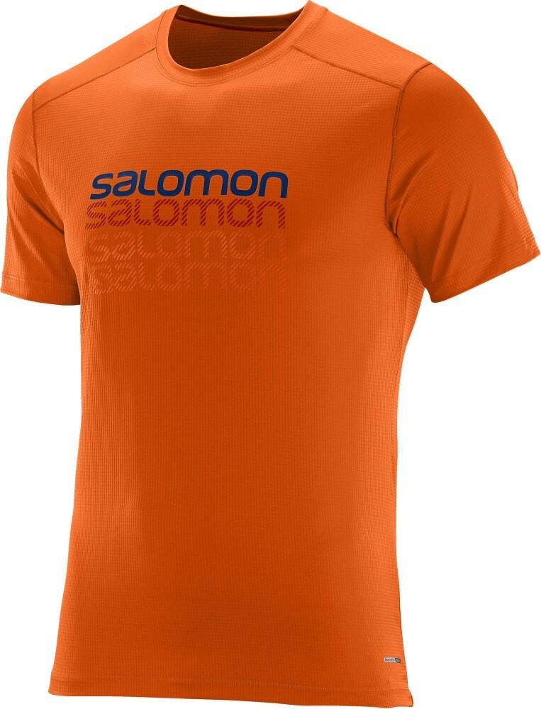 Triko Salomon Cosmic logo SS clementine-X