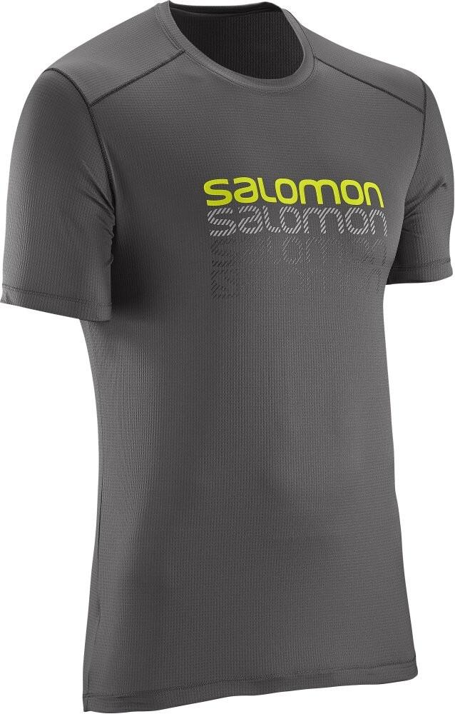 Triko Salomon Cosmic logo SS galet grey