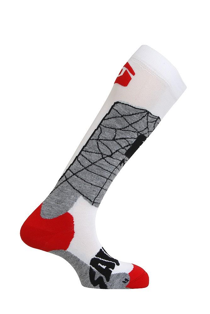ponožky Salomon The Villain white/grey 12/13