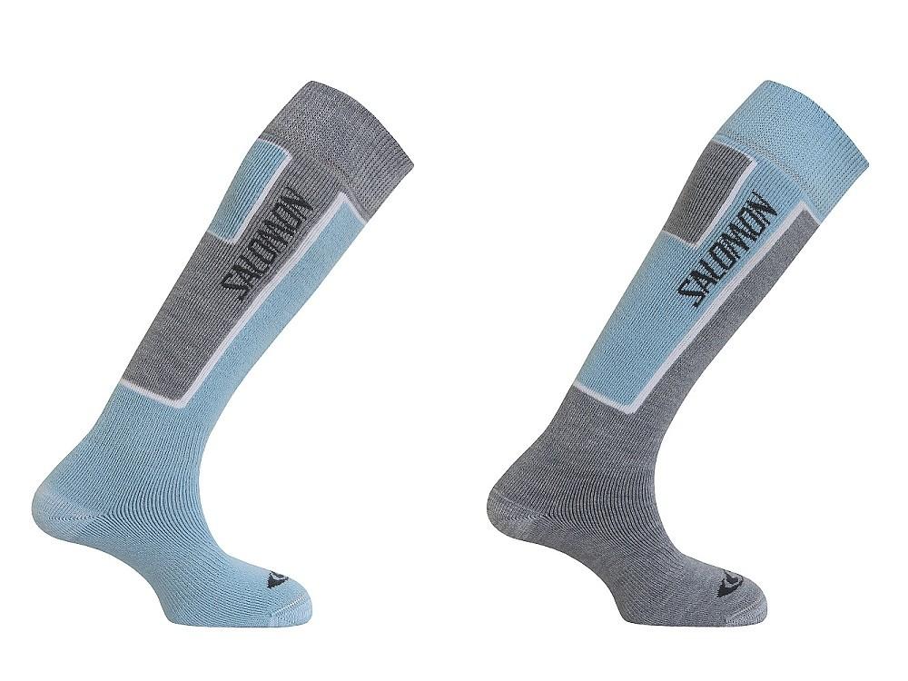 ponožky Salomon Elios 2 pack new light grey/purple