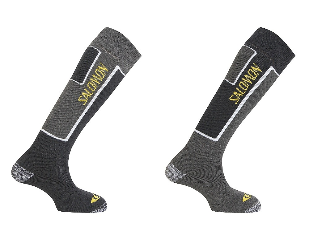 ponožky Salomon Elios 2 pack new black/grey 12/13