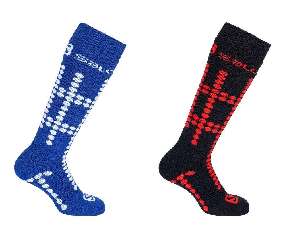 ponožky Salomon Team JR 2pack white/matador-x