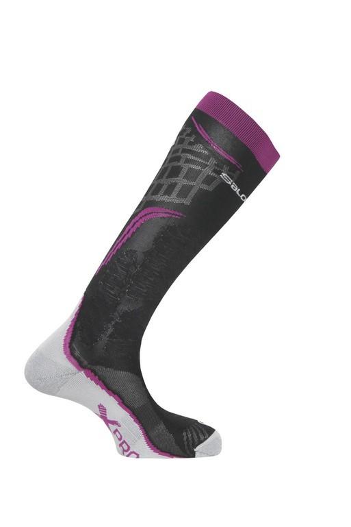 ponožky Salomon X PRO wild berry/black/white