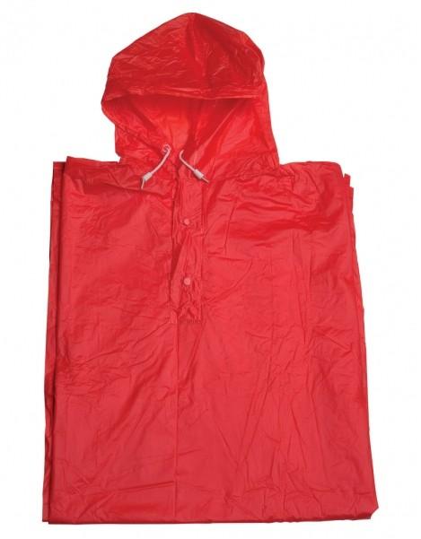 pláštěnka pončo PVC dospělá červená