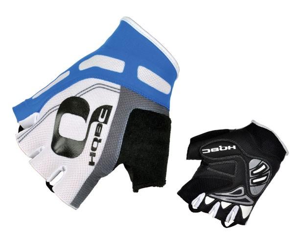 rukavice HQBC Cooler Wov Biogel bílo/modré vel. L