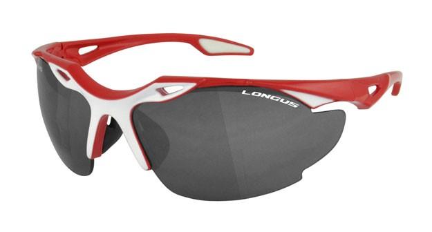 brýle LONGUS Blade červeno/bílé smoke/čiré