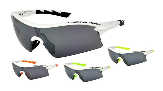 brýle LONGUS Neone bílé,oranžové,zelené,žluté gumi
