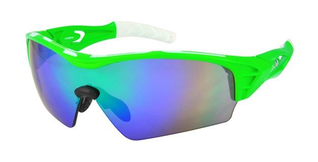brýle HQBC Treedom Plus reflex.zelené/zelená skla