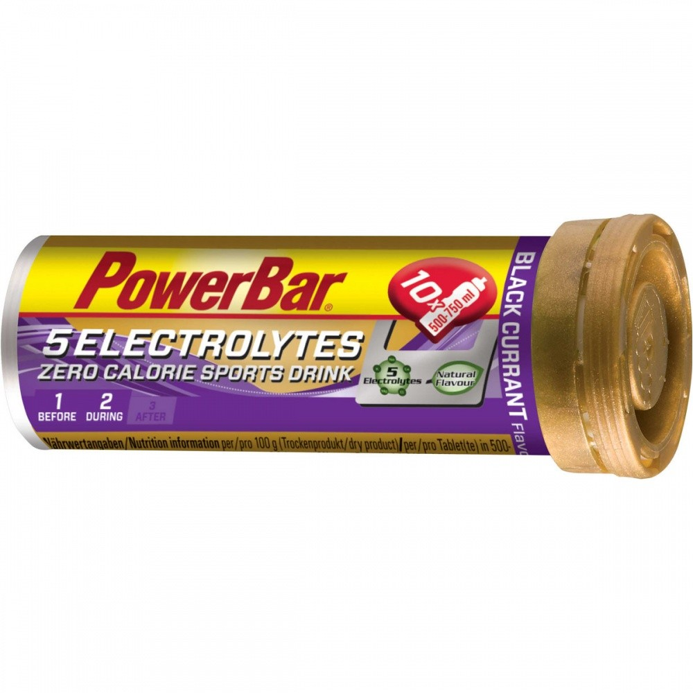 POWER BAR 5 Electrolytes Sport drink Černý rybíz