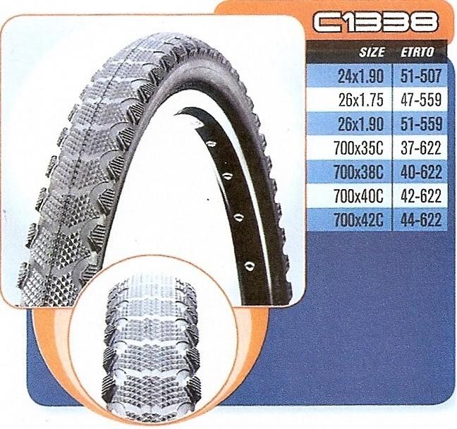 Plášť CST 700x35,37-622 C-1338 černý - drát