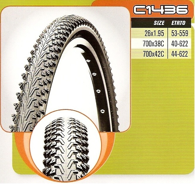 plášť CST 700x38 (40-622) C-1436 černý