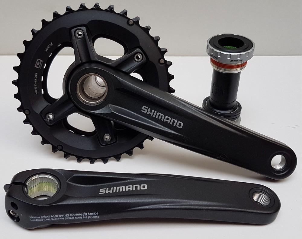 kliky Shimano MT500 Holl.II black, 2x10, 36/26 + misky