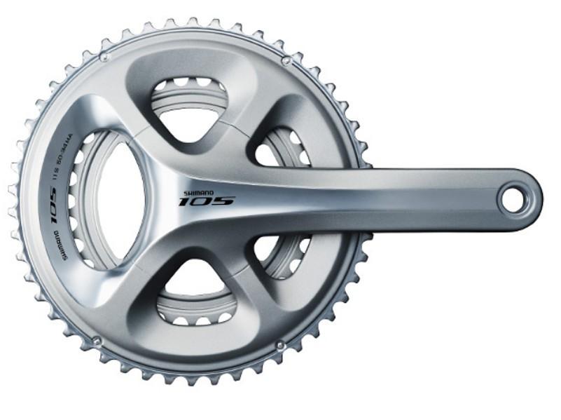 kliky Shimano 105 FC5800 52/36z 175 mm bez misek stříbr
