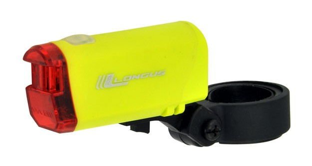 blikačka LONGUS zadní 1 Super LED 2f žluté + bater