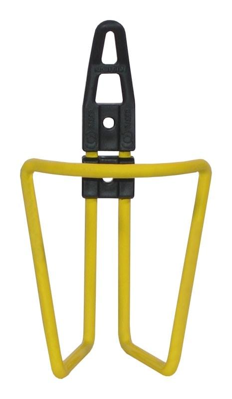 košík na láhev AL+plast úchyt žlutý