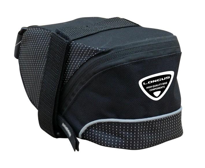 taška LONGUS Strap L podsedlová 1,5L černá velcro