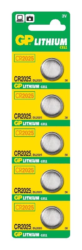 baterie GP CR 2025 3V 20x2,5mm