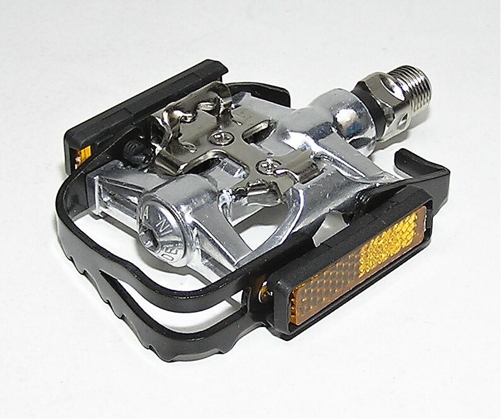 """pedály NWL-280L hybridní SPD 9/16"""" blk/silniční kuličko"""