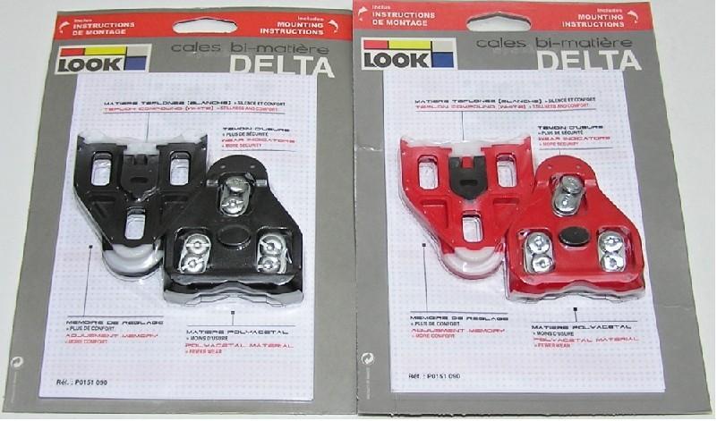 kufry k pedálům LOOK Delta silikon červené 9° pohy