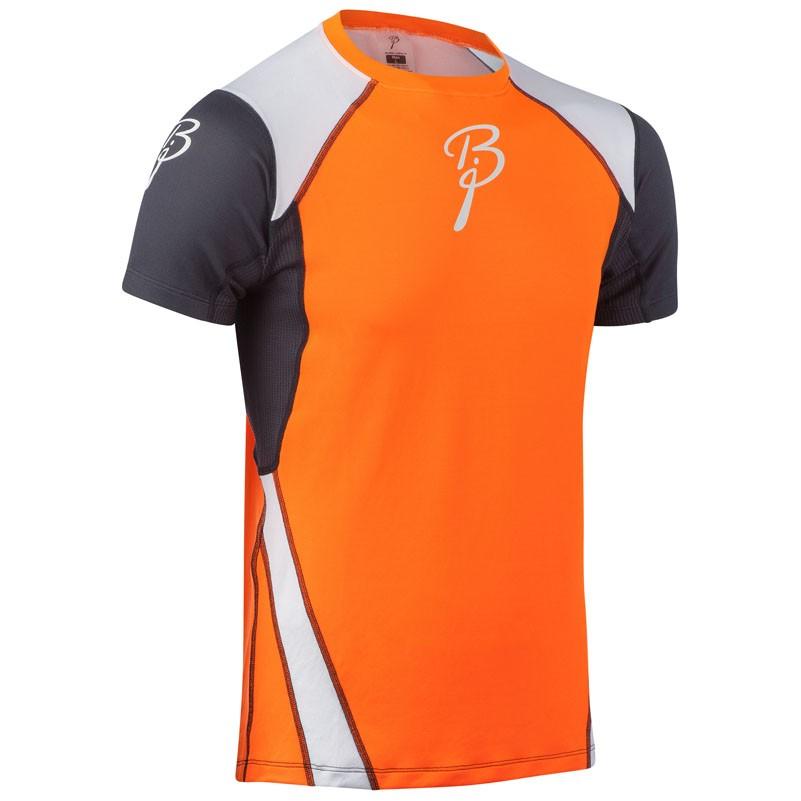 triko Bjorn Dahlie Dry  M kr.rukáv oranžovo/černo/bílé