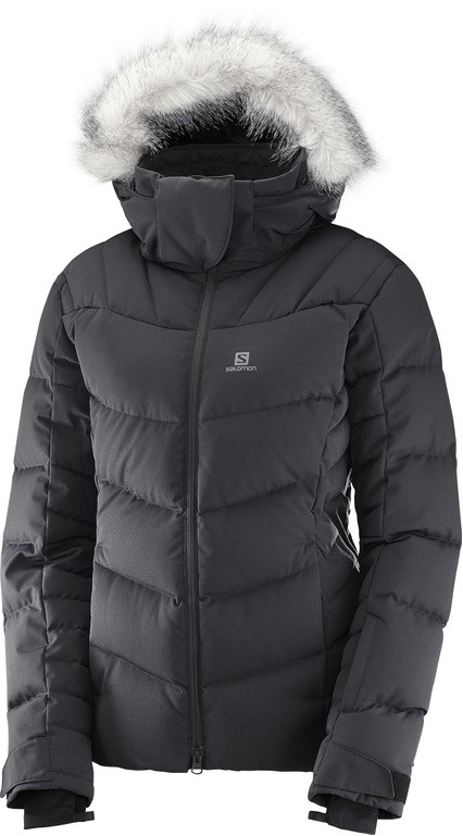 bunda Salomon Icetown W black/heather 17/18