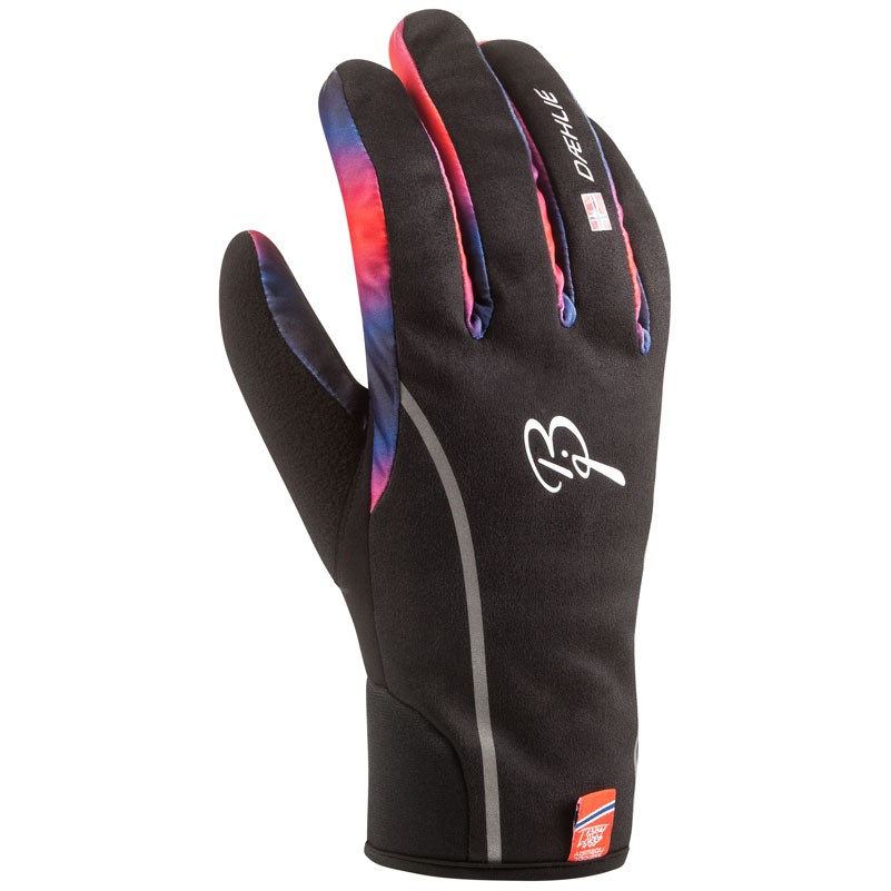 rukavice Bjorn Dahlie Warmest M černo/modro/oranžové