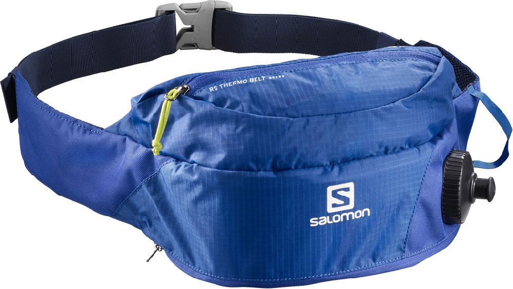 běžecká ledvinka Salomon RS Thermobelt blue/acid lime