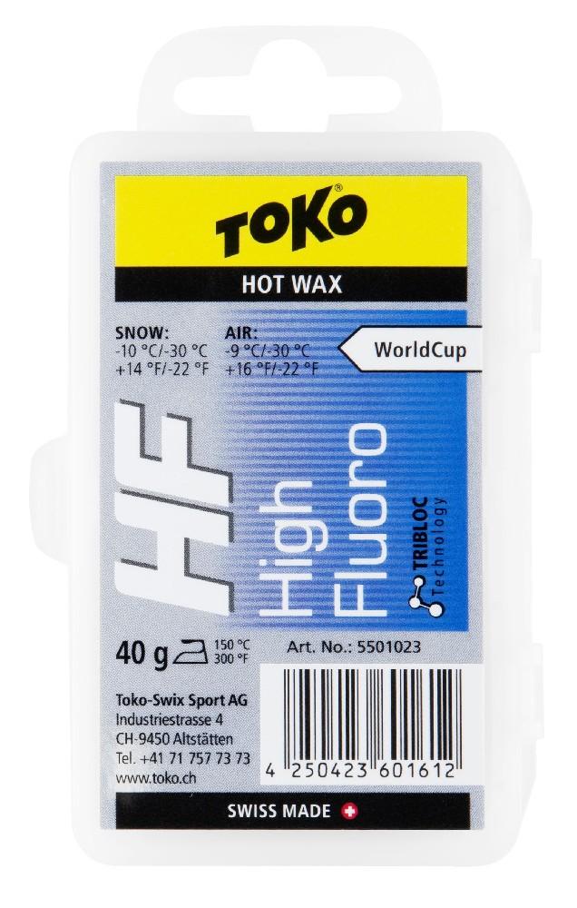 vosk TOKO HF Hot Wax 40g blue -10/-30°C