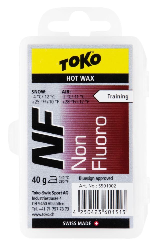 vosk TOKO NF Hot Wax red 40g -4/-12°C