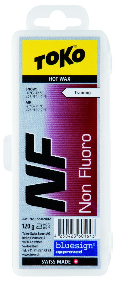 vosk TOKO NF Hot Wax red 120g -4/-12°C
