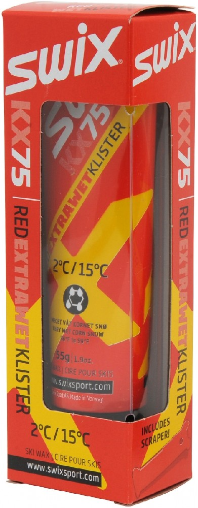klister SWIX KX75 55g +2°/+15°C